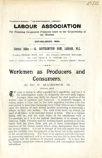 Workmen as producers and consumers