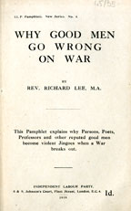 Why good men go wrong on war