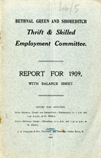 Report for 1909 with balance sheet