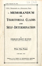 Memorandum on territorial claims and self-determination