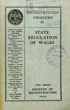 State regulation of wages